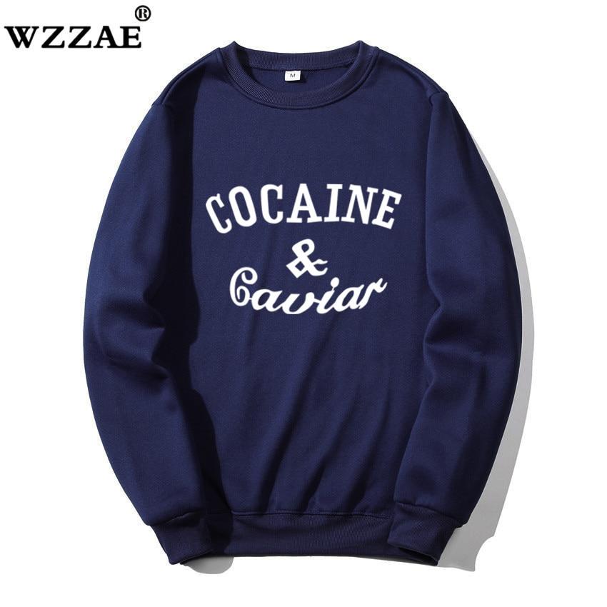 2020 New Cocaina Caviar Men Sweatshirts Letter Sweatshirt Mens Hoodies With Hat Hoody Big Pocket Hip Hop Hood Pullover Top Male