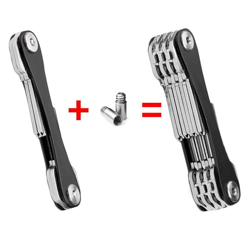 DIY Pocket Key Wallet Smart Keychain Key Ring Wallets Portable Compact Aluminum Key Clip Multi-functional Smart Clip