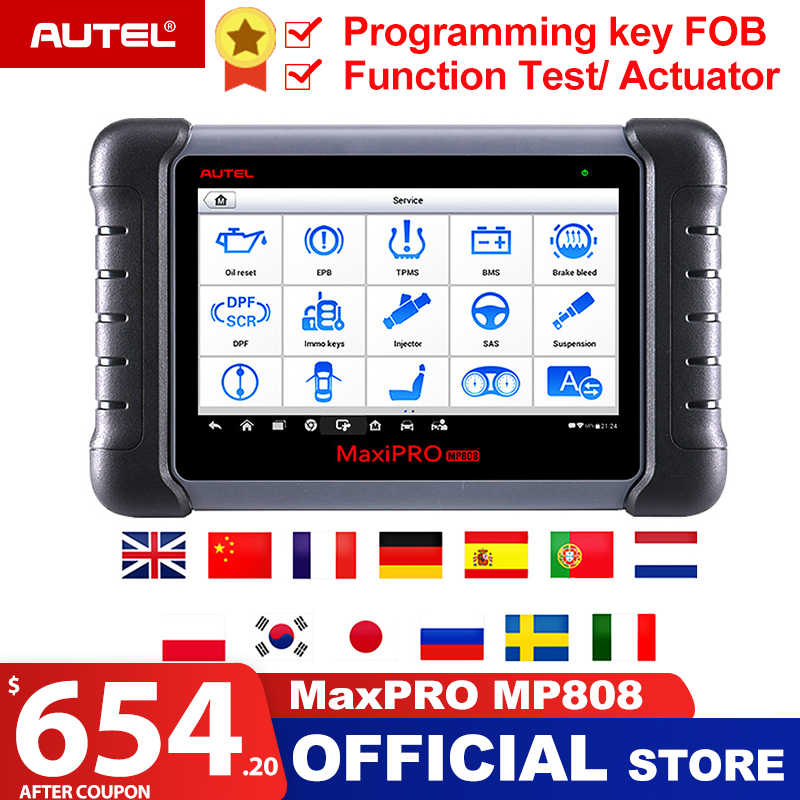 Autel MaxiPRO MP808 Diagnostic Tool OBD2 Professional OE-level OBDII Diagnostics Tool Key Coding PK Autel DS808 DS708 MS906 Pro