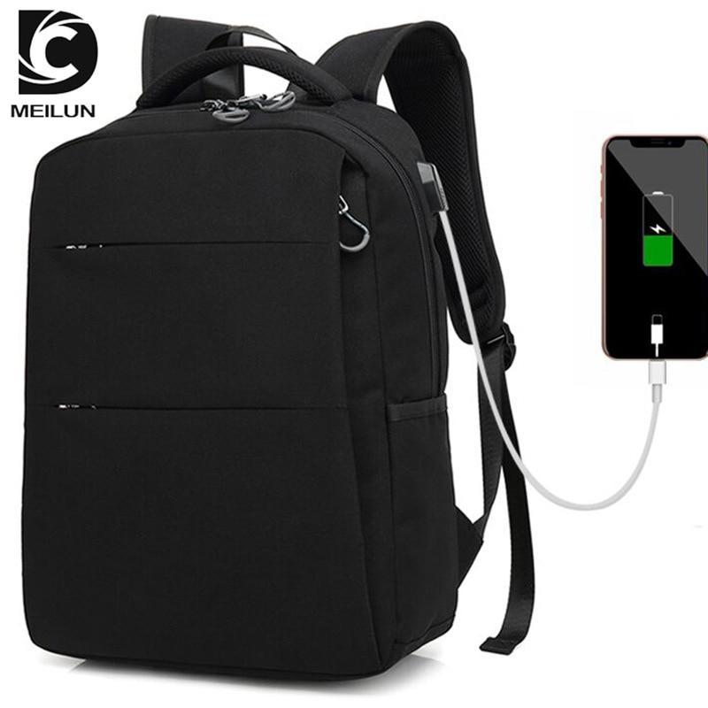 2018 USB sac à dos 15.6 pouces sac à dos pour ordinateur portable pour femmes hommes école sac à dos sac pour garçon filles mâle voyage Mochila - 5