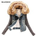 Autumn Fashion Women's Jacket New Fur Collar Denim Coat Korean Version Slim Denim Jacket Coat Plus Size Thick Warm Female Coat