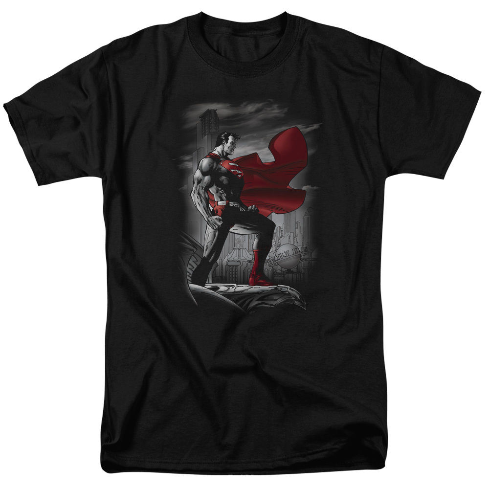 Superman METROPOLIS GUARDIAN Licensed Adult T-Shirt All Sizes Streetwear Funny Print Clothing Hip-Tope Mans T-Shirt Tops Tees