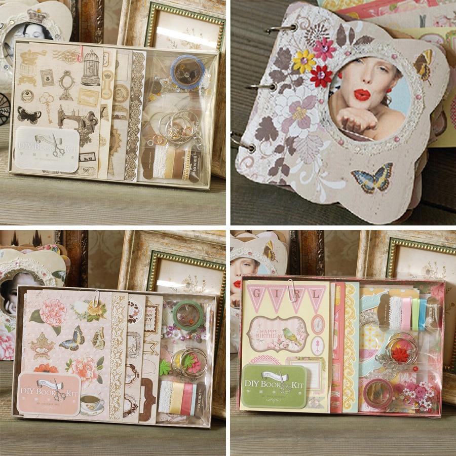 DIY Photo Album Vintage chipboard album kit 3 Ring binder scrapbooking album
