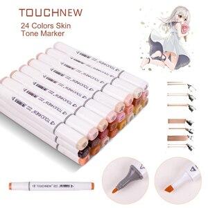 Image 1 - Touchnew marcador duplo caneta álcool na arte marcador, esboço canetas tons de pele marcadores, para retrato ilustração desenho arte suprimentos
