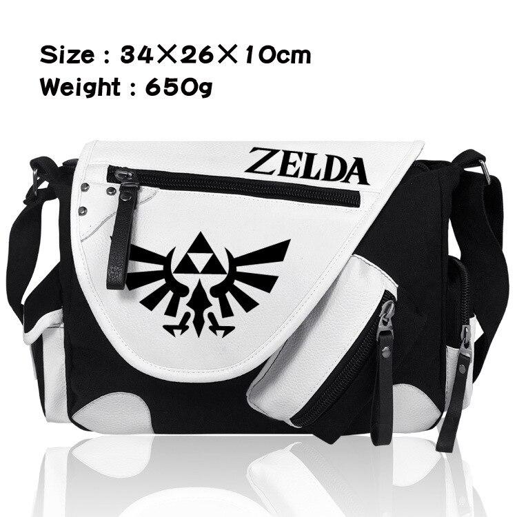 Legend of Zelda, Zelda sky sword, single shoulder canvas, coloured satchel, men's and women's leisure.