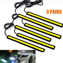6Pcs 12V Car COB LED Daytime Running Light White Bar Strips Super Bright(China)
