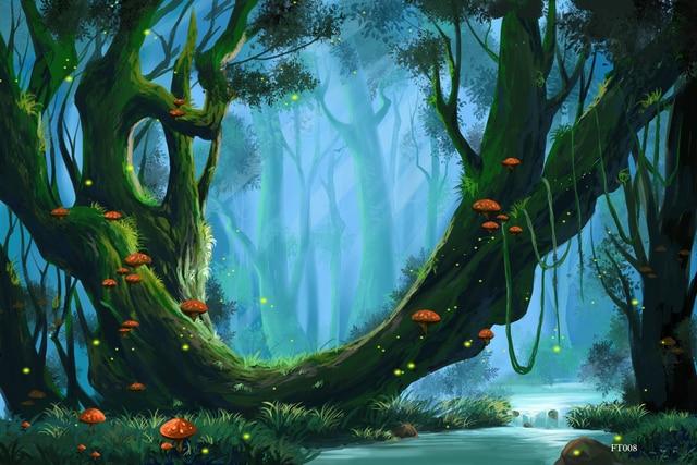 Comprar vida feliz bosque de cuento de - Fondos para photocall ...