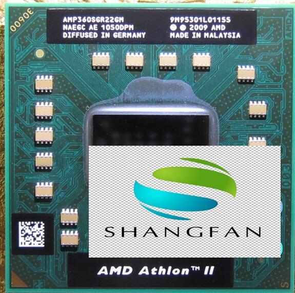 Laptop cpu prozessor AMD Athlon II Dual-Core P360 CPU AMP360SGR22GM P 360 25 watt Mobile (1 Mt Cache 2,3 GHz) sockel S1/S1g4