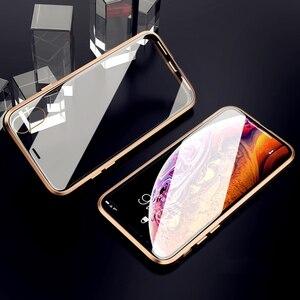Image 4 - Suntaiho Magnetic สำหรับ iPhone XS Case XS MAX กระจกนิรภัยแบบ Dual การดูดซับแม่เหล็กสำหรับ iPhone 8 PLUS 7 XR ฝาครอบ
