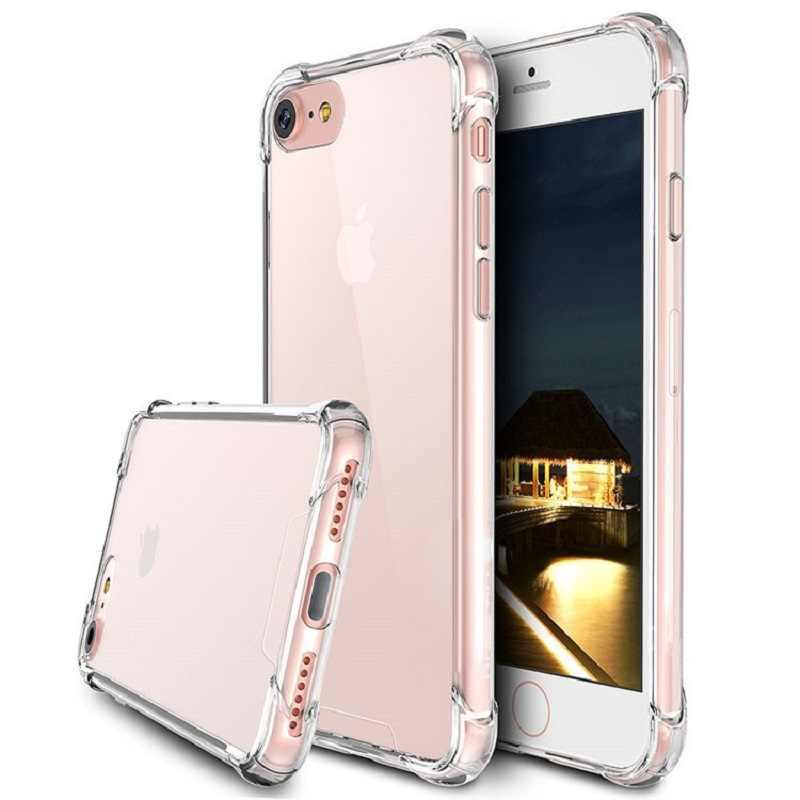 Ultra Thin Slim שקוף רך TPU טלפון מקרה עבור iPhone 7 8 בתוספת קאפה ברור מקרים עבור iPhone X 6 s 8 7 בתוספת 6 מקרה אבק תקע 3