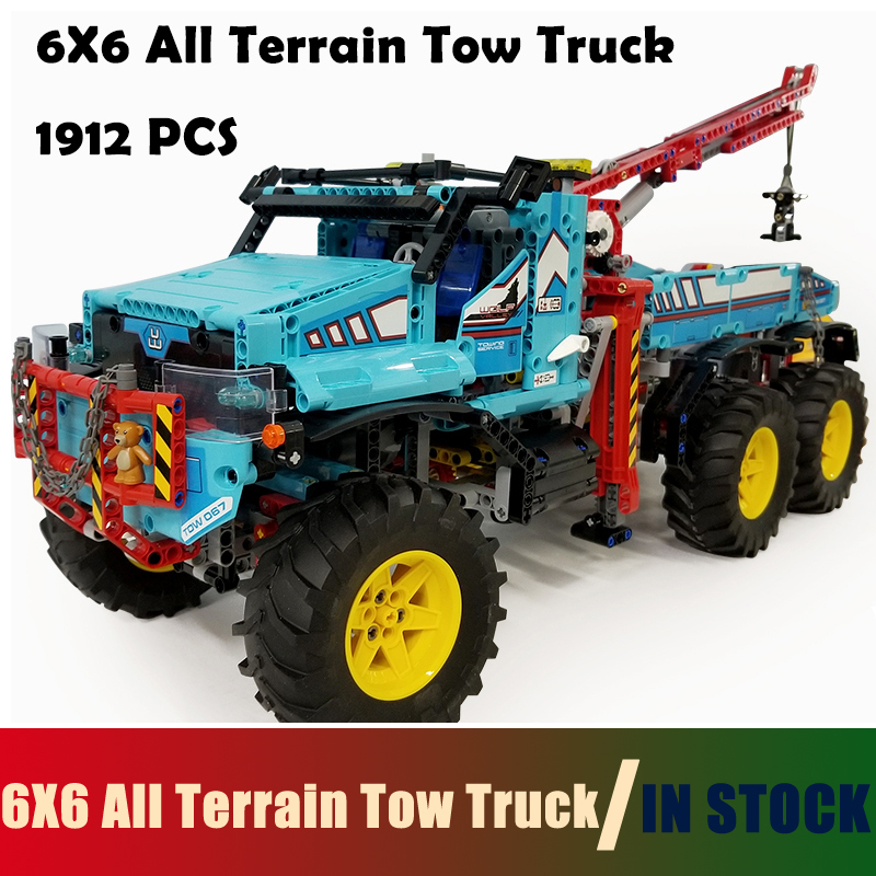 Compatible with lego Technic Model Building Blocks toys 20056 1912Pcs 6X6 All Terrain Tow Truck Series 42070 DIY toys & hobbies lego technic 42031 ремонтный автокран