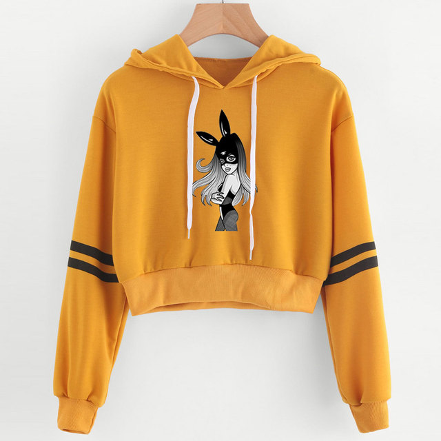 ARIANA GRANDE THANK U NEXT CROP TOP HOODIE (24 VARIAN)