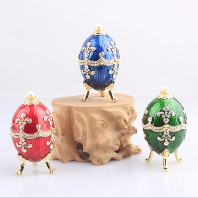 Faberge russian egg bejeweled jewelry ring trinket treasure storage faberge russian egg bejeweled jewelry ring trinket treasure storage box easter egg collectible gifts wedding jewelry negle Gallery