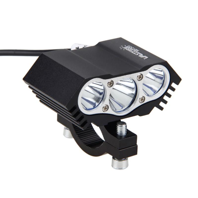 1PCS Motorcycle LED Headlight 30W 6500K 4000LM 3x XM-L T6 Spot Off Road Work Light Offroad Driving Fog Light Lamp