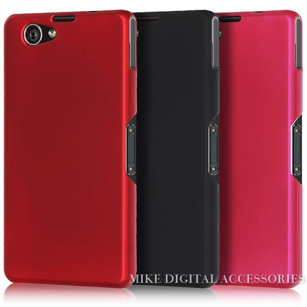 New High Quality Multi Colors Luxury Rubberized Matte Hard Plastic Phone Case Cover For Sony Xperia Z1 Mini Compact D5503