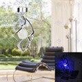 Aclarar el Color Cambiante Colgante Espiral Hilandero Del Viento Carillones de Viento de Energía Solar LED Al Aire Libre Jardín Patio de Luz Lámpara de La Decoración