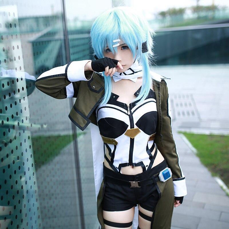Sword Art Online 2 Phantom Bullet Cosplay Asada Shino Costumes SAO Cosplay Costume Custom Made