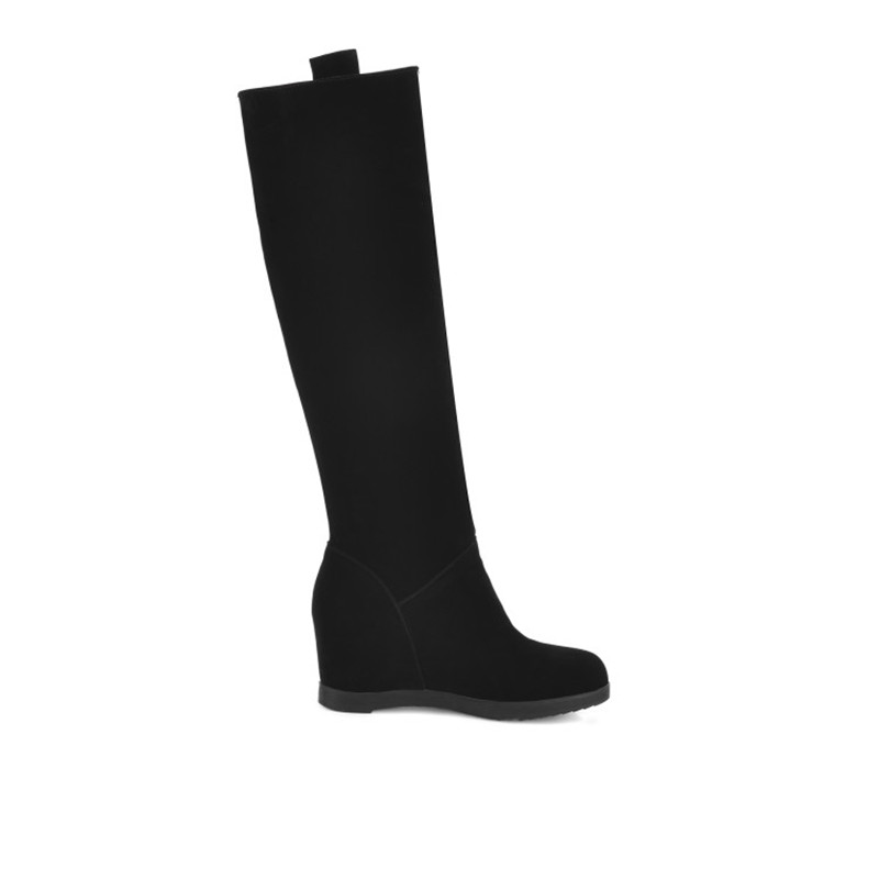 NEMAONE New Big Size 34-43 winter hidden wedge knee high boots Fashion women boots casual women dress boots