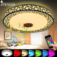 Iminovo Modern Smart RGB Light Dimmable Bluetooth APP Remote Control Music LED Ceiling Light