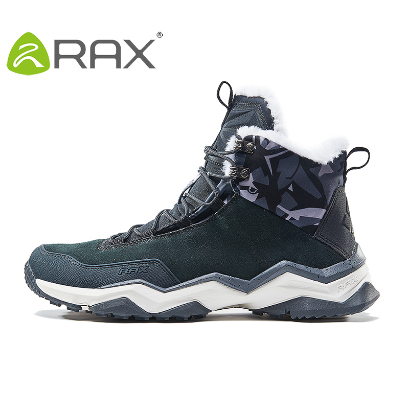 RAX Men's Winter Hiking Boots Mountain Trekking Anti-slip ShoesBreathable Comfortable Soft Mountain Shoes for Professional Men