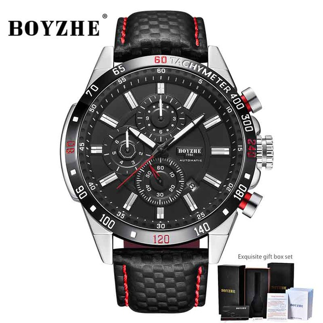 BOYZHE Mens Automatic Mechanical Watches Top Brand Luxury Fashion Sports Self Winding Wristwatches Male Watch Relogio MasculinoBOYZHE Mens Automatic Mechanical Watches Top Brand Luxury Fashion Sports Self Winding Wristwatches Male Watch Relogio Masculino