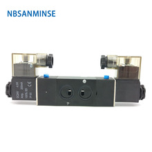 NBSANMINSE 4M210 4M220 4M230 G1/4 Manifold Solenoid Valve 2/5 3/5 Single Double Coil Pneumatic Air Valve стоимость