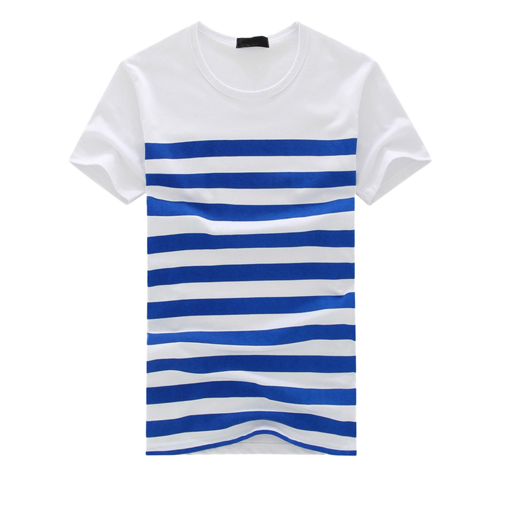 T     Shirt   Men Plus Size Sumer Mens   T     Shirt   O Neck Casual Striped Tee   Shirts   Homme Short Sleeve Top Blouse Men Funny Summer 2019
