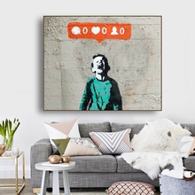 Boy Graffiti Art Wall Decor Canvas Poster Print Painting Calligraphy Decorative Picture for Living Room Home