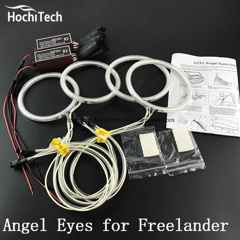 HochiTech ccfl angel eyes kit white 6000k ccfl halo rings headlight for Land Rover Freelander 2 L359 2007-2012 for uaz patriot ccfl angel eyes rings kit non projector halo rings car eyes free shipping