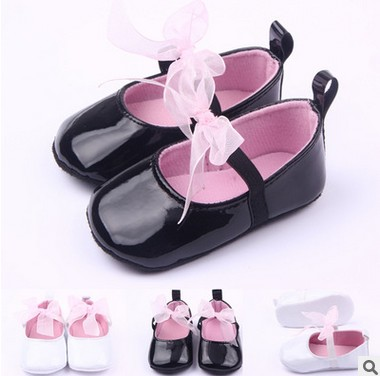 retail 2015 Kawaii Baby shoes first Walkers Princess single butterfly girls tennis shoes knot Child moccasins free shipping