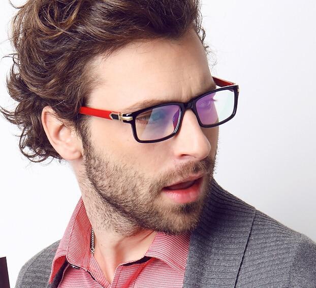 852c2f66c21 Red Black Men Male Eyeglasses Eyewear Fashion Glasses Clear New Style  Gentlemen Optical