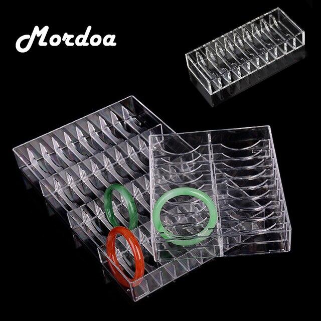 2017 Mordoa Acrylic 8/10/20/40 Slot Clear Bangles Bracelets Jade Bracelet Puff box Display Jewelry Display Box Puff box