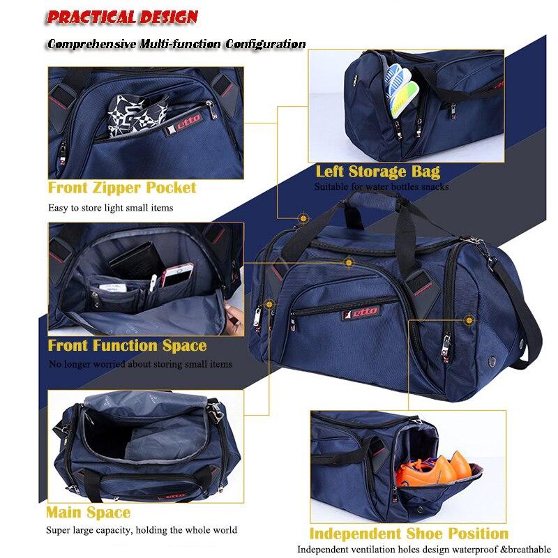 Etto profesional grandes deportes bolsa gimnasio bolsa de los hombres de las mujeres independiente de almacenamiento de bolsa portátil de hombro gimnasio bolsa HAB002 - 5