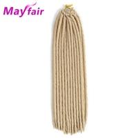 MAYFAIR 6pcs 18'' Straight Faux Locs Crochet Braiding Hair High Temperature Fiber Synthetic Faux Locs Braiding Hair Extensions