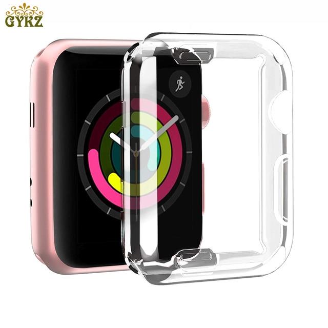 Для Apple Watch 4 3 2 1 38 мм 42 мм 40 мм 44 мм 360 встроенный Прозрачный чехол для защитная пленка из термополиуретана Полный Чехол для Iwatch 4 3 2 Тонкий чехол