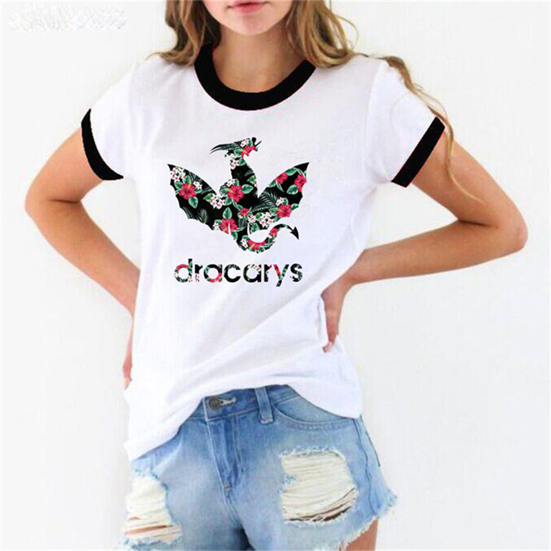Dracarys  Game Of Thrones  T Shirts Women Mother Of Dragon Tee Shirt Femme Summer Fashion T-shirt Female Harajuku Tshirt Tumblr