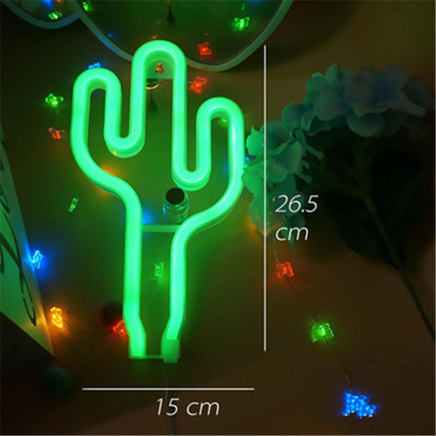 Usb Night Light Flamingo Neon Cactus Pineapple Christmas Tree Heart