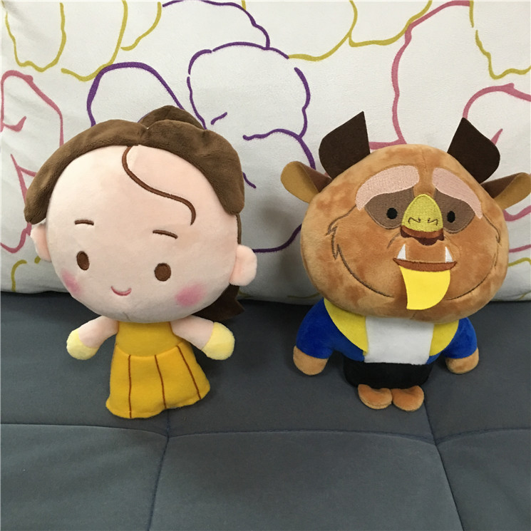 Cute Beauty and The Beast Plush Stuffed Baby Toys for Children Cartoon Aciton Figure Plush Doll Kids Girls Christmas Gift 20cm 20cm korea pororo little penguin plush toys doll sitting pororo petty eddy crong loopy poby plush stuffed toys gift for kids
