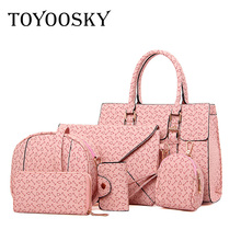 TOYOOSKY Famous Brand Women Bag 2017 Fashion Women Messenger Bags Geometric Printing Handbags PU Leather Female