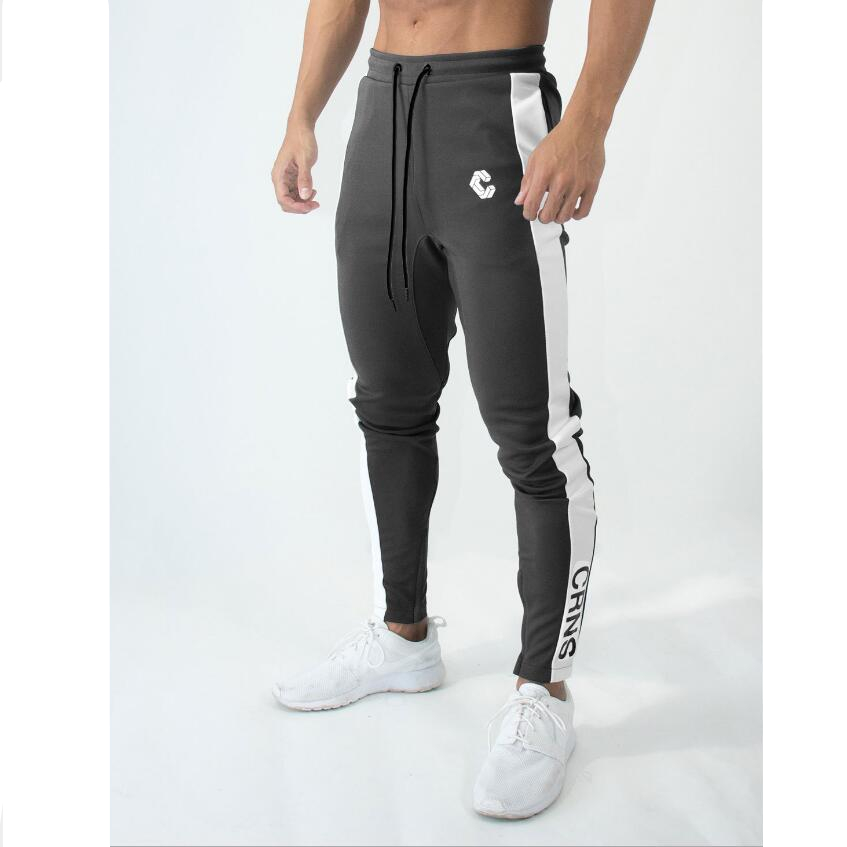 Men Striped Stitching Sport Sweatpants Jogging cotton Streetwear Plus Size Outdoor Trousers Male Running Fitness pants