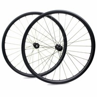 Carbon Wheelset 28mm High 25mm Wide Asymmetric Offset XC clincher tubeless 27.5er(650B)/29er Tubuless Clincher Wheelset