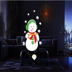 Dinâmica 12 padrões papai noel natal projetor a laser interior ao ar livre animação efeito snowfloco boneco de neve projetor remoto