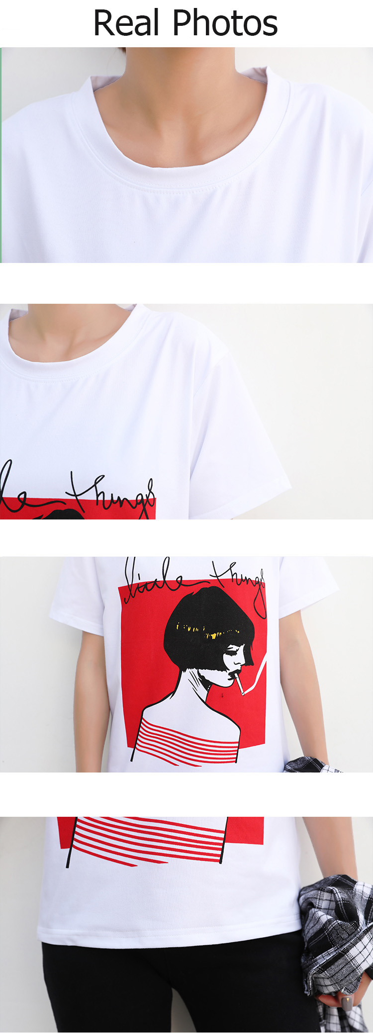 HTB1PqCzQFXXXXb0XXXXq6xXFXXXS - New Design 13 Styles Women Casual White T Shirt Female