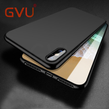 GVU Luxury Phone Case For iPhone X Case Plastic Matte Shell For iPhone 8 8 Plus Cover Protective Shell For iPhone x 10 Case
