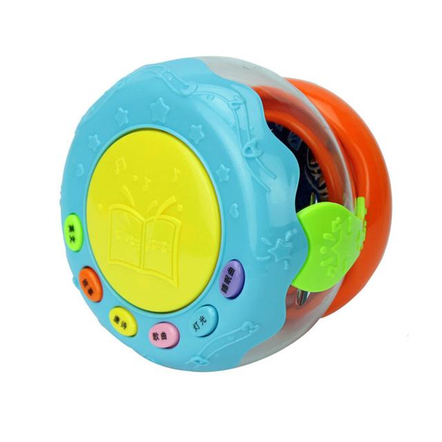 Tambor de música Light-emitting Puzzle Educacional Máquina de Aprendizagem Infantil Do Bebê LEVOU