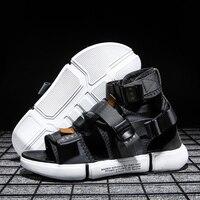 Mens Sandals Shoes Man Casual High Top Slipper Summer Gladiator Male Flats Slippers Comfortable Beach Outdoor Sandal Flip Flops