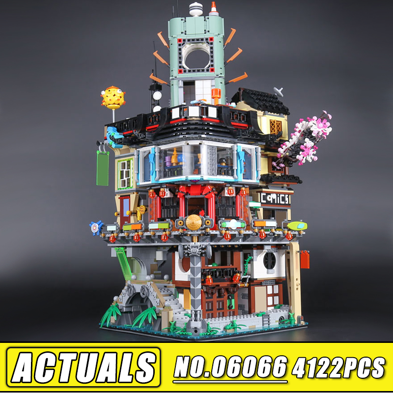 Bei Fen 4953pcs Lepin 06066 Ninjagoinglys City Masters of Spinjitzu Building Blocks Toys Bricks Compatible 70620 Birthday gift 2018 new 4953pcs ninja masters of spinjitzu city construction model building blocks bricks 70620 compatible legoes gift kid toys