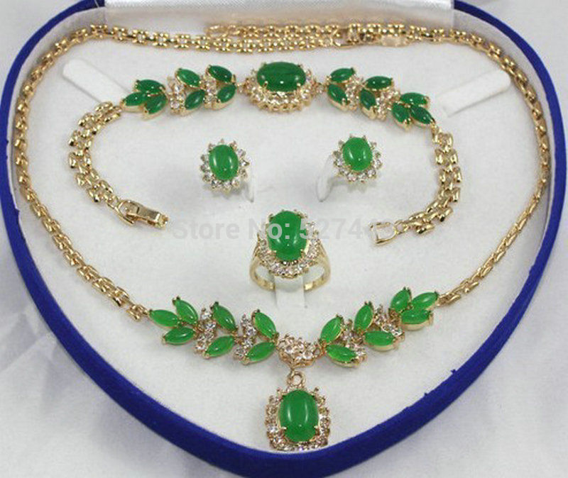 HOT SELL - Wholesale hot-set Natural stone Necklace Bracelet Ring Earring (A0511) -Top quality free shipping