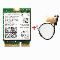 Двухдиапазонный беспроводной AC 9560 для Intel 9560NGW 802.11ac NGFF: CNVI 2,4 г/г 5 г 2x2 Wi Fi карты Bluetooth 5,0 FRU 01AX770 + антенны