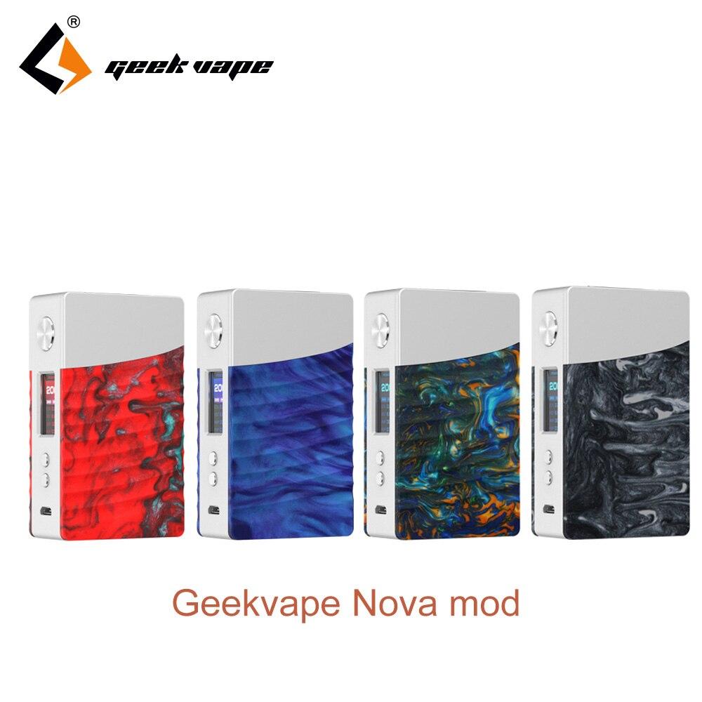 2018 Geekvape Nova box mod 200w e-cig mod powered by AS200 chipset Nova mod for zeus dual RTA VS drag mod By dual 18650 Battery цена